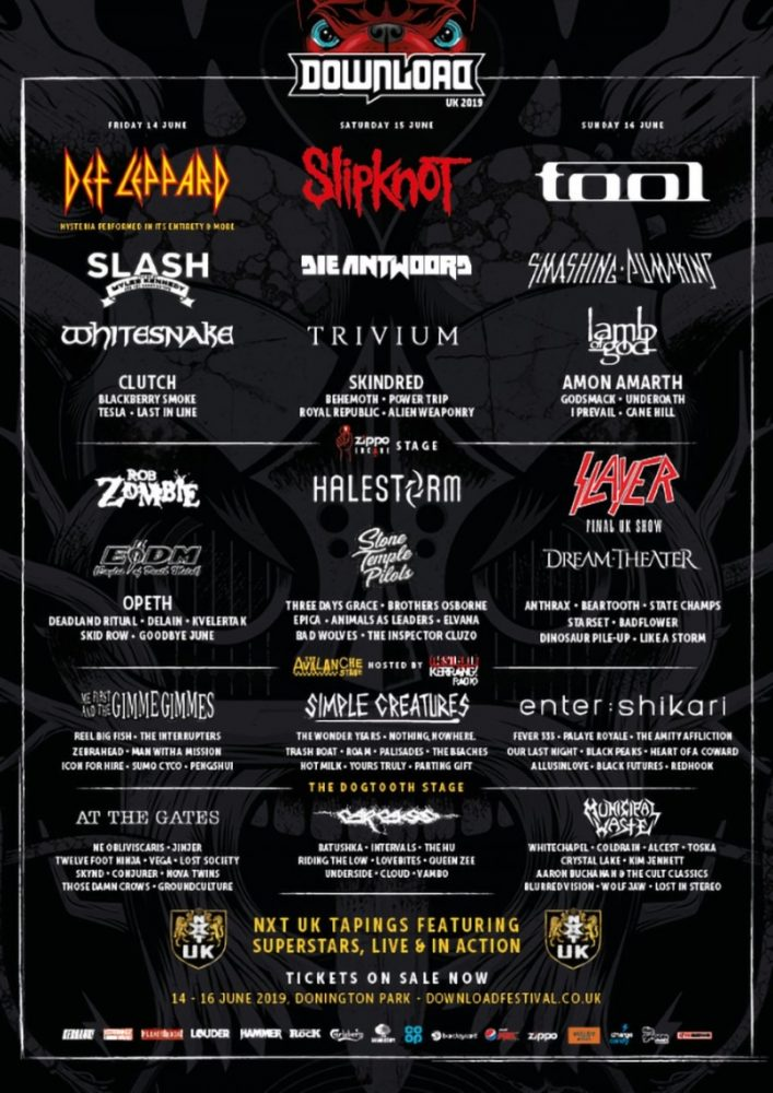 Download Festival 2019 Line Up Poster Final