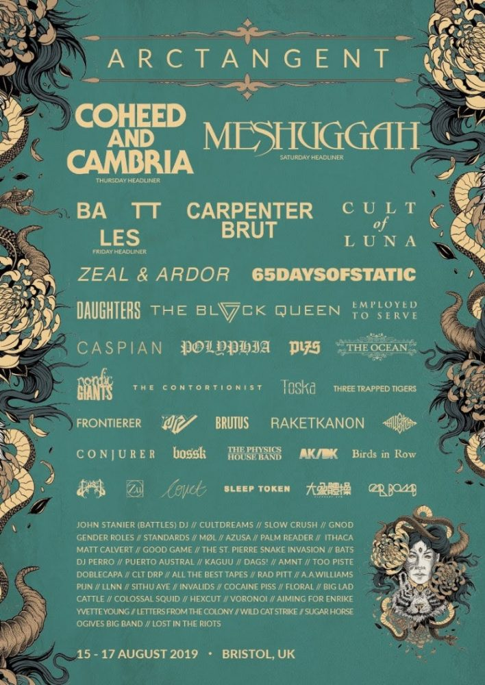 ArcTanGent Festival 2019 Line Up Poster