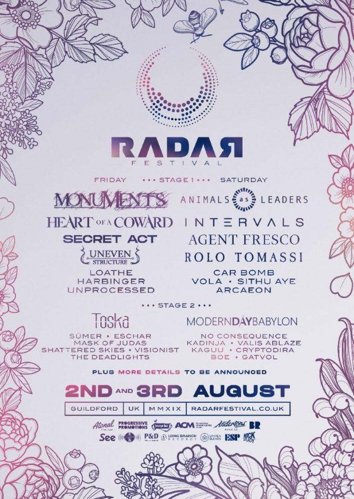 Radar Festival Line Up Poster 2019