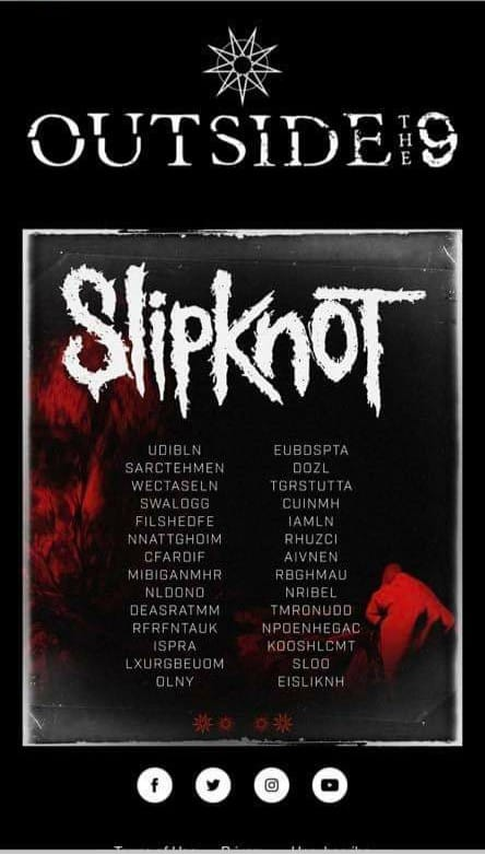 Slipknot 2020 European Scrambled Tour Dates Outside The 9