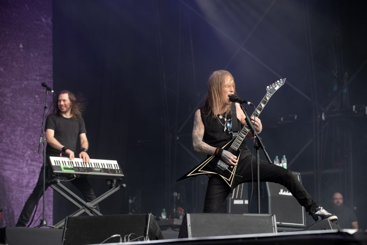 Children Of Bodom on stage at Bloodstock Open Air Festival 2019